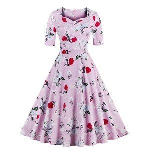Dresses & Skirts - Vintage floral A-line dress